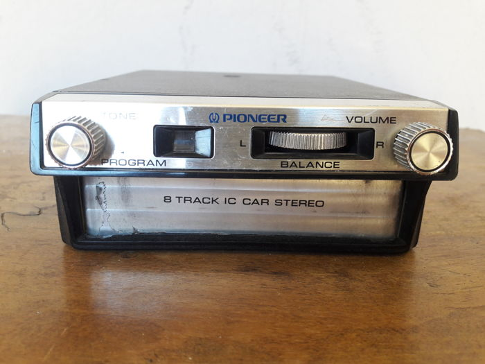 Pioneer stereo 8 TP-222 and 9 cassettes from the same era