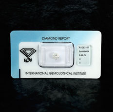 Diamond - 0.63 ct, H / I1