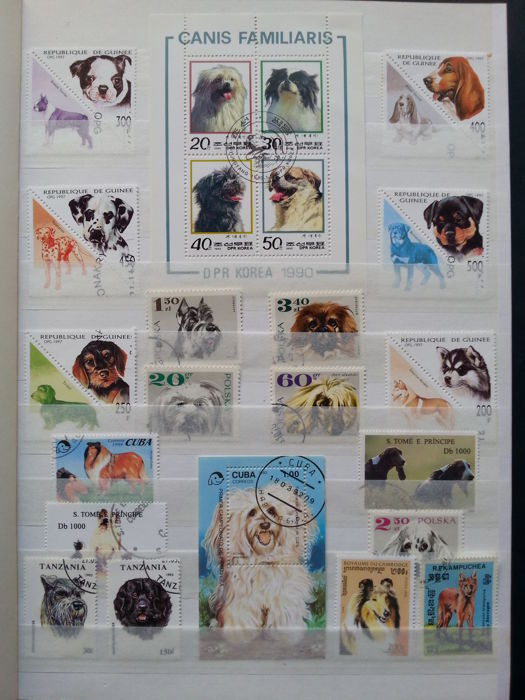 World 1940/2006 - Thematic animals dogs, cats and horses