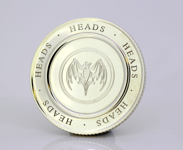 Tiffany & Co - Sterling silver heads / tails coin, London 2004