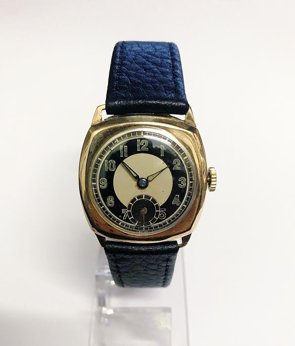 Unbranded - 9ct Gold Art Deco Mechanical 1938 Watch - Hombre - 1901 - 1949