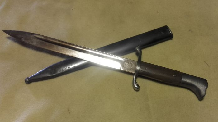 German Reich Fire Service Parade Bayonet with Scabbard