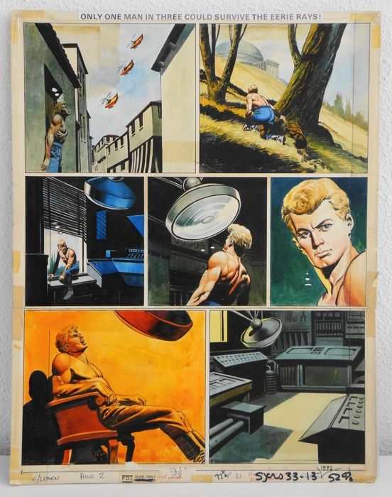 Lawrence, Don - Original page in colour - the Trigan Empire - the Invisibility Ray - (1969)