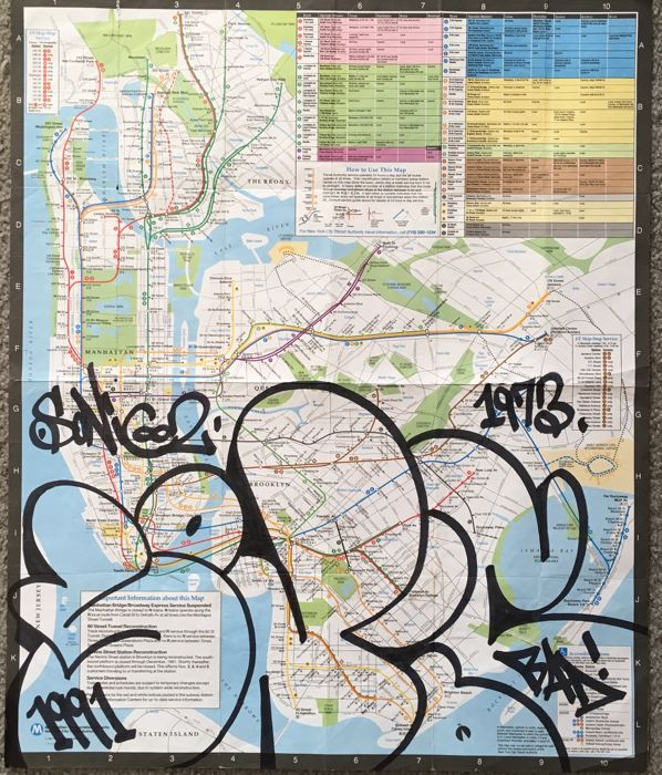 Mta Subway Map In 1990.Sonic Bad Nyc Mta Subway Map Catawiki