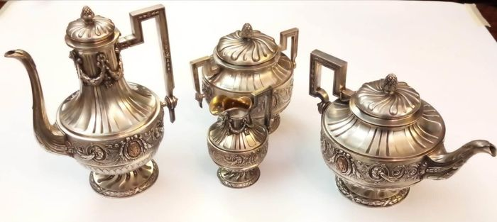 Auguste Touron  - Coffee and tea service (4) - Late 19th century