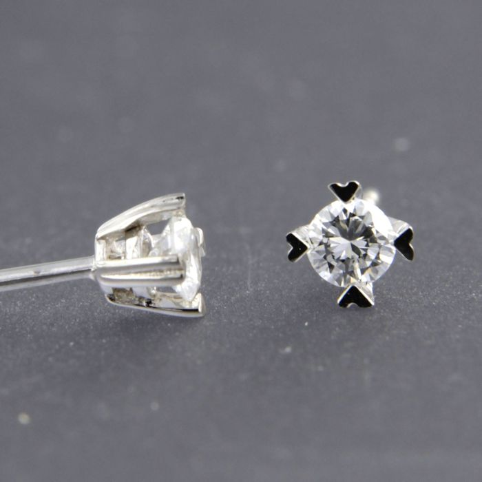 Earrings - White gold - 0.3 ct - Diamond