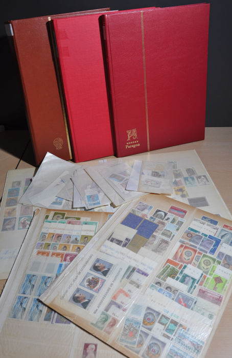 Luxembourg - Party from classic in various stock books
