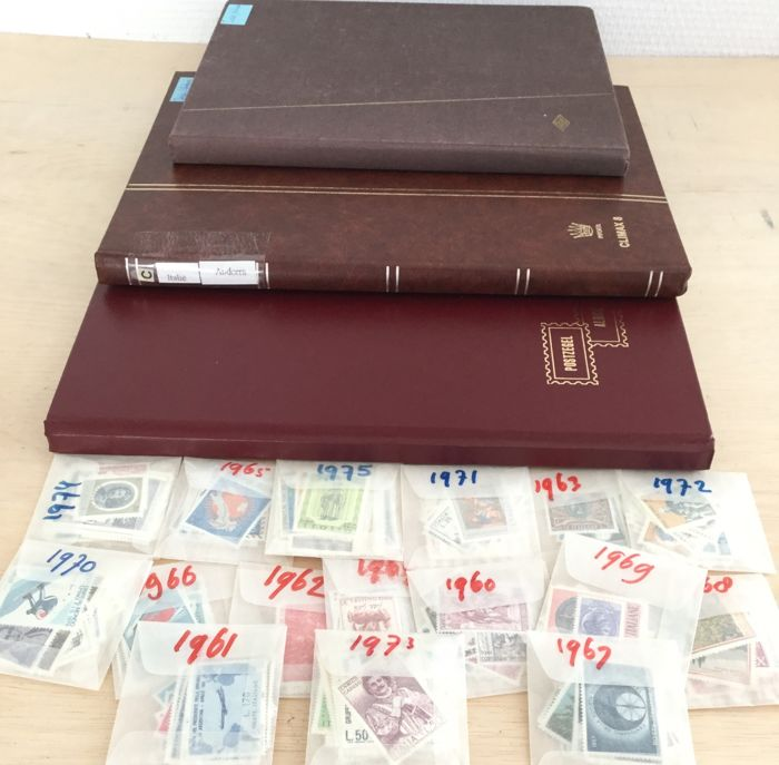 Vatican City - Italy - Andorra Collection in 3 stick books