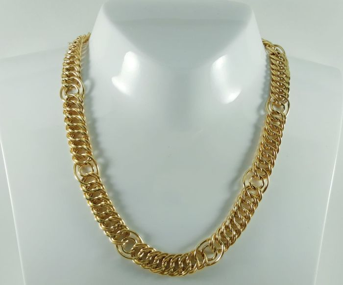 Women's 18 kt yellow gold necklace Weight: 37.6 g