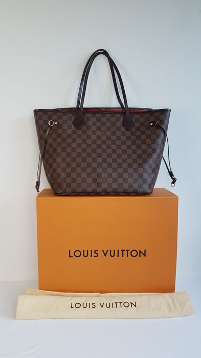 Louis Vuitton Made In France >> Louis Vuitton Neverfull Damier Ebene Gm Bag Made In France
