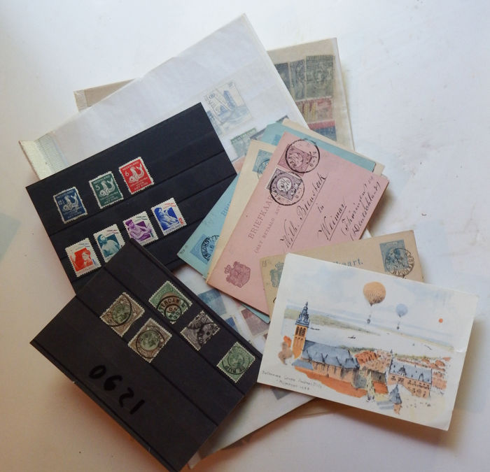 World - Netherlands - stamps, postcards, from classic