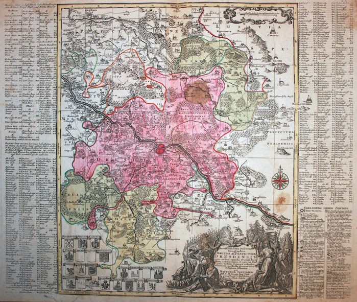 Germany Dresden Seutter Accuratissima delineatio Geographica