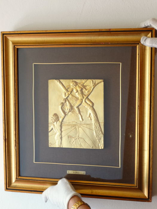 9565a569e23 Salvador Dali Original Sin- Peccato Originale -24k gold finished -  Certificate of Authenticity -