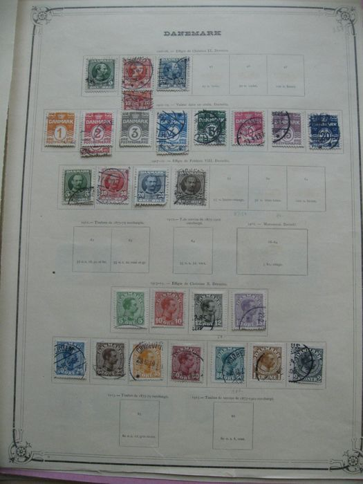 Denmark, Sweden and other countries - Stamp collection including air mail and tax