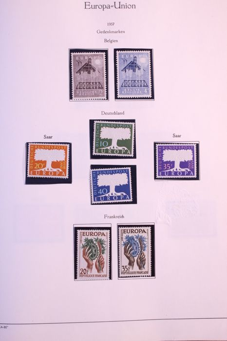 CEPT / United Europe 1957/1968 - On 1 series after complete collection Kabe voordrukbladen