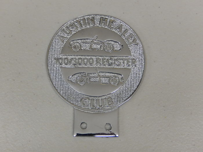 Rintamerkki - Vintage Austin Healey 100/3000 Register Car Badge - 2000