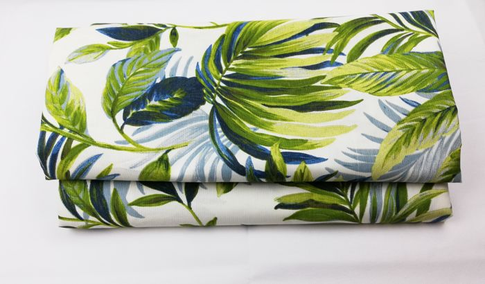 5.40 linear metres of grosgrain fabric with printed pattern - cotton blend