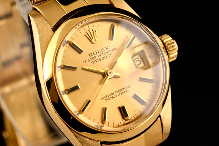 b2e84265a1d Rolex - Lady Oyster Perpetual Date Just 18K Gold - 6916 - Mujer - 1970-1979