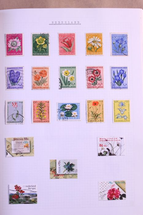 World - Motif 'Flora' (mainly flowers), - Collection in 4 Importa Victoria albums