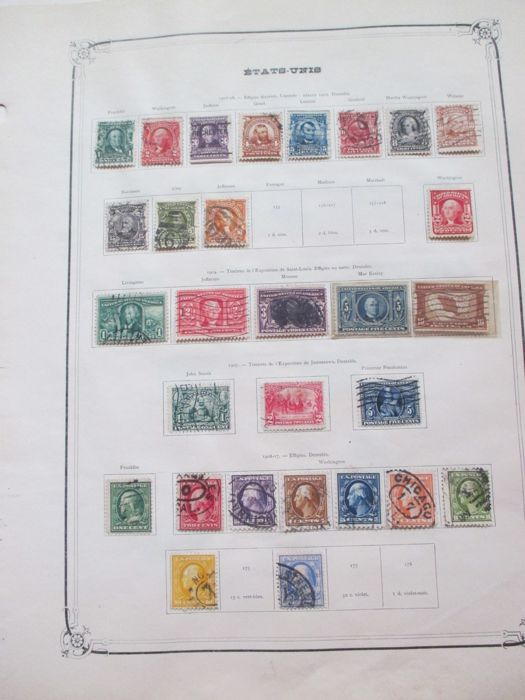 Canada and the United States 1859/1940 - Stamp collection including airmail