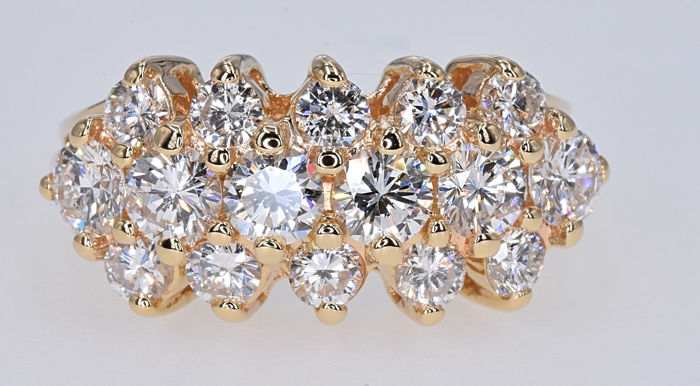 2.12 Ct Diamond ring in 14kt gold - No Reserve price