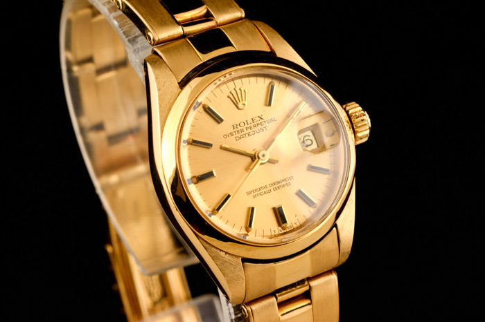 887682d0485 Rolex - Lady Oyster Perpetual Date Just 18K Gold - 6916 - Mujer - 1970-