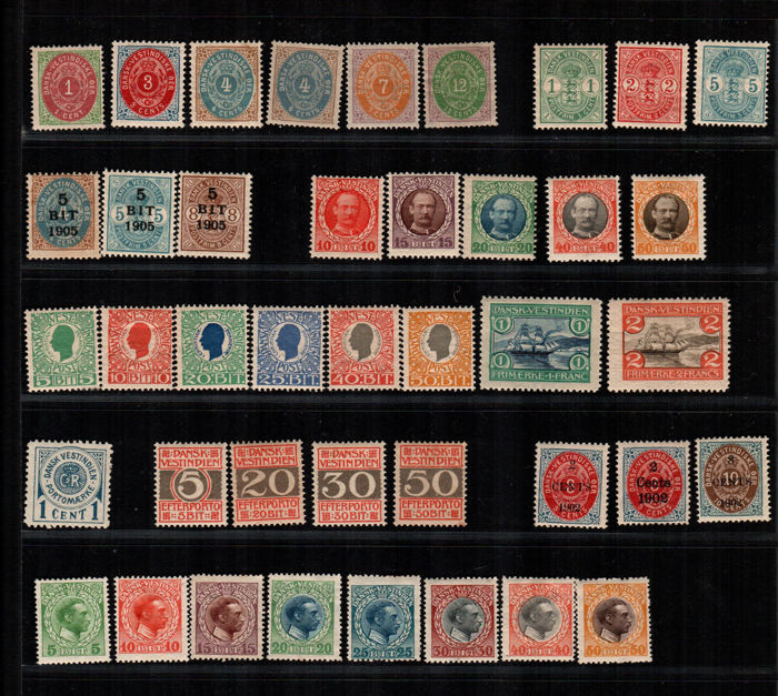 Danish West Indies - Selection of some series