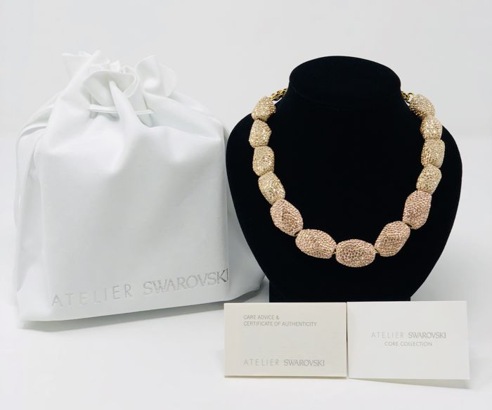 b4bba1ee2c3ec Atelier Swarovski Necklace - Regent Necklace Gold and Rose Gold Crystal  Beads - Catawiki