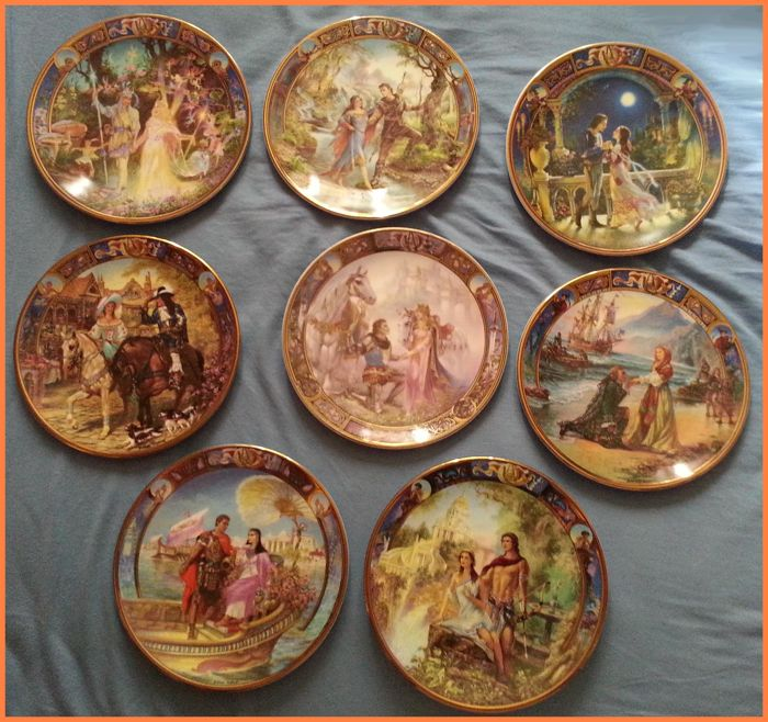 Compton & Woodhouse - Royal Worcester - Legends of love - 8 plates - Porcelain