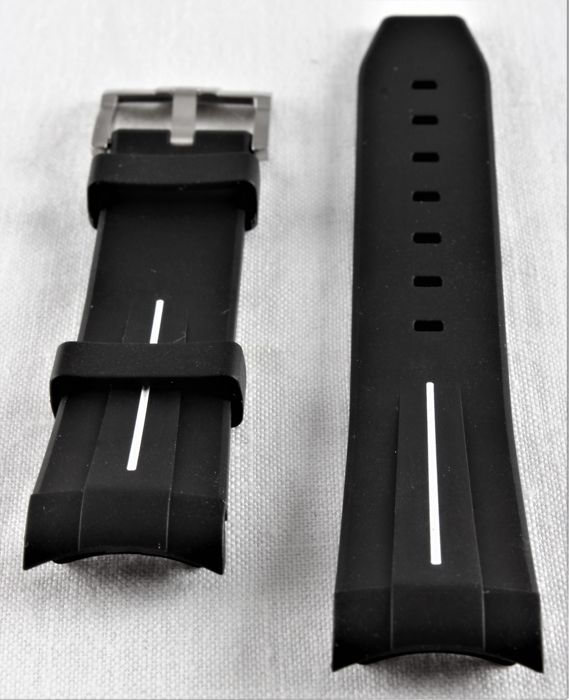 "Swiss ""Rubber B"" strap, suitable for Rolex - Daytona, GMT, Submariner, Yachtmaster etc. 40 mm - NO RESERVE!! - Stainless Steel Clasp - Never worn - Unisexe - 2011-aujourd'hui"