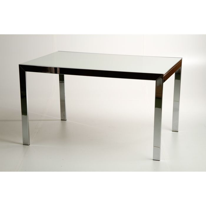 Calligaris - Extendable dining table in chrome and glass
