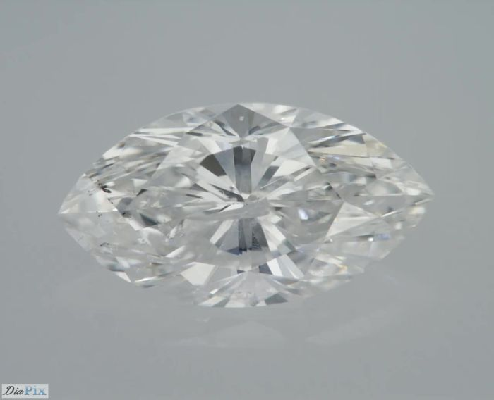 1 Diamond - 0.8 ct - Marquise - D (colourless) - ** LOW RESERVE **, SI2