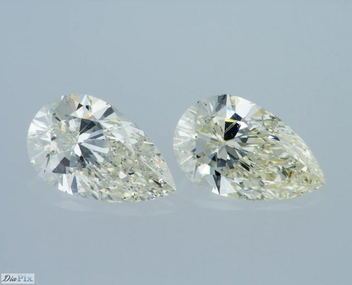 1.83 TCW Pair of H-SI1 / I-VS2 PEAR - Very Low Reserve!