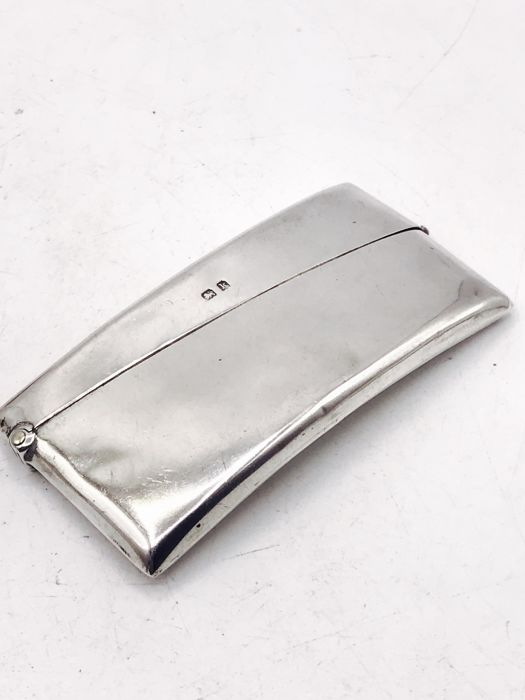 large antique handmade sterling silver business card holder charles lyster son birmingham 1909 - Silver Business Card Holder