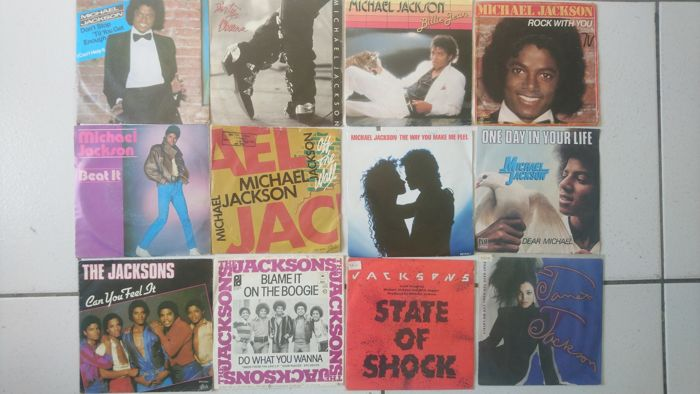 "Michael Jackson And Family 12 7"" 45 rpm Singles"