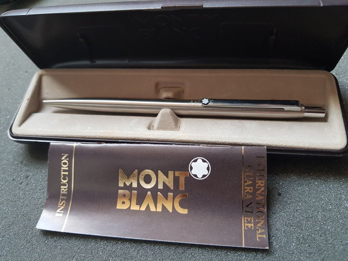 Montblanc Noblesse ballpoint pen - stainless steel - in the original box with manual