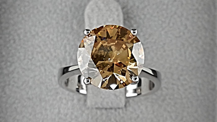 Witgoud - Ring - Helderheid versterkt 4.01 ct Diamant
