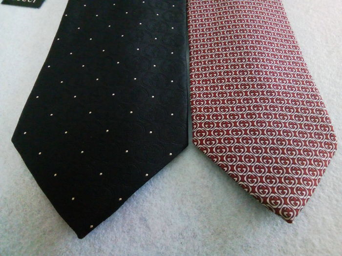 Gucci - 2cravatte 2 Ties - Catawiki 3a20676263b0