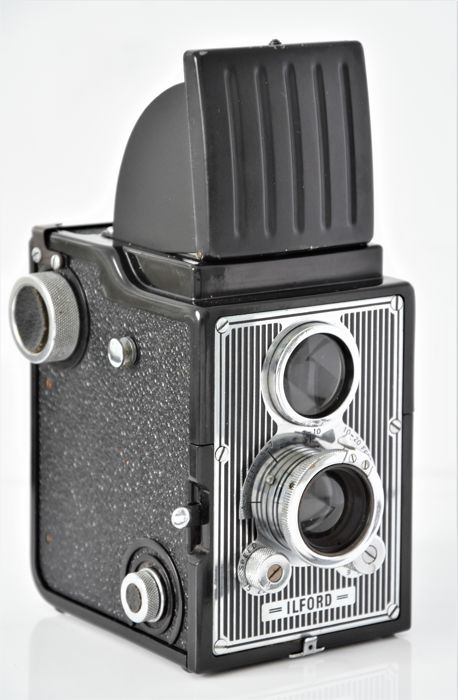 1949   ILFORD   'Craftsman'  Bakelite/Metal  120/620 Dual-Lens Camera.