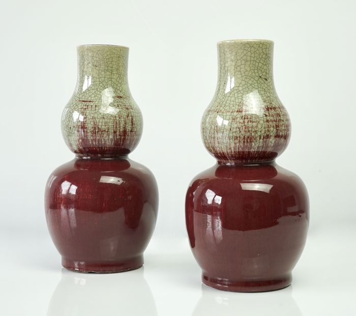 Fine Provenance Pair of Double Gourd Vases - China - 18th Century