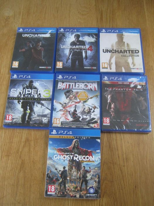 7 Sony Ps4 Games Like Ghost Recondeluxe Edition Uncharted 4