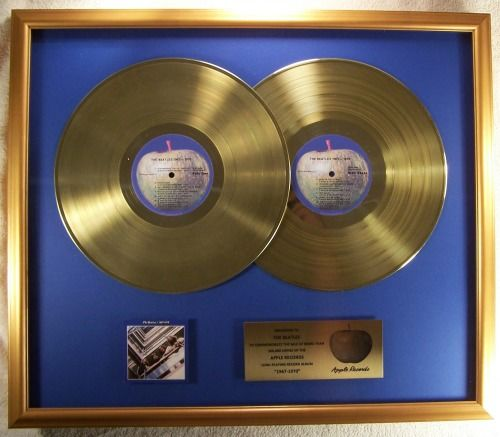 The Beatles 1967-1970 Blue 2 LP Officiële In-House Gold Record Award Apple Records