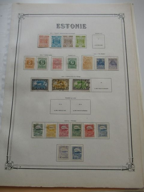 Estonia, Latvia and other Slav countries 1918/1940 - Stamp collection including airmail