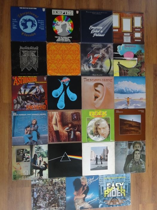 For The Real Rock Enthusiast, A Lot of 23 Beautiful LP