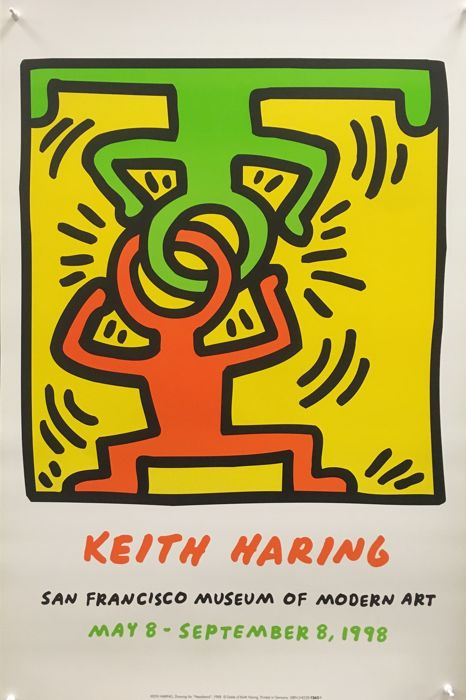 Keith Haring - San Francisco Museum of Modern Art (Headstand) - 1988