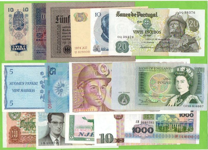 World - collection of 30 banknotes - Catawiki