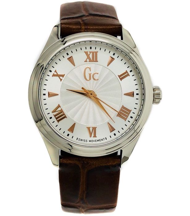 Guess Collection  - GC Smart class Brown Leather Swiss  - Y03006L1  - Dames - 2011-heden