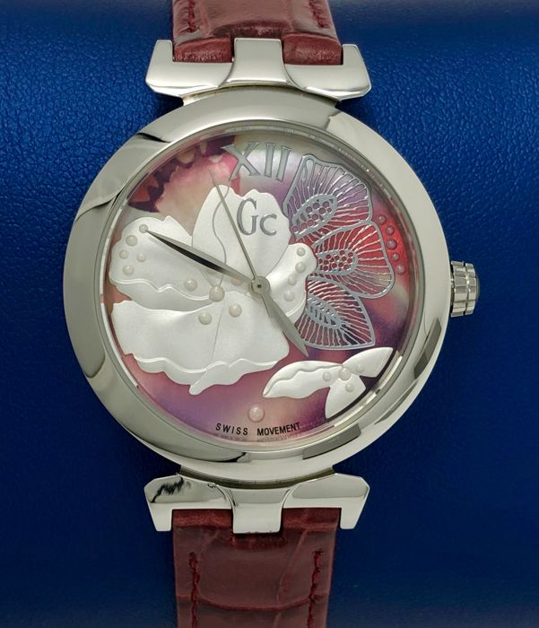 """Guess Collection  - GC LadyBelle Red Leather strap New Swiss - Y22005L3 - """"NO RESERVE PRICE"""" - Dames - 2011-heden"""