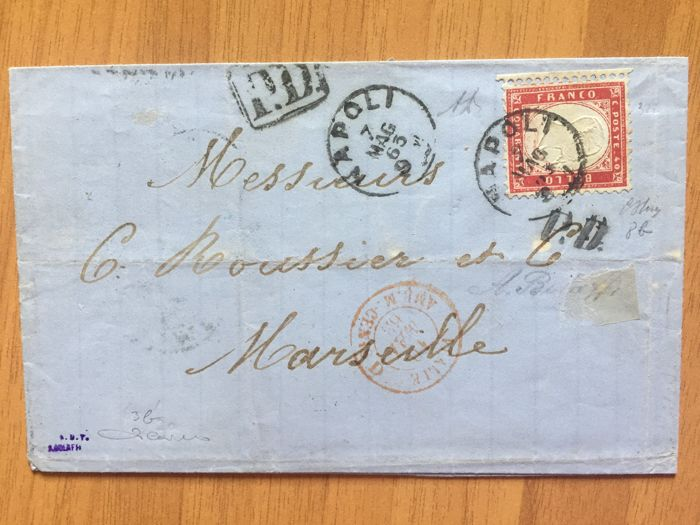 italy kingdom 1863/1864 - lot of two letters with postage one with