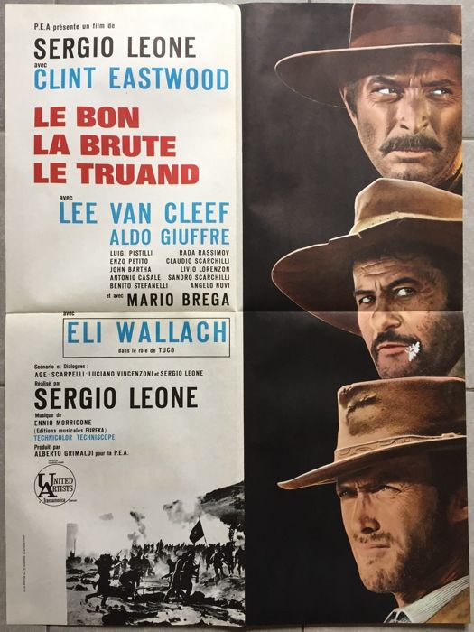 The Good, the Bad and the Ugly - French movie poster - circa